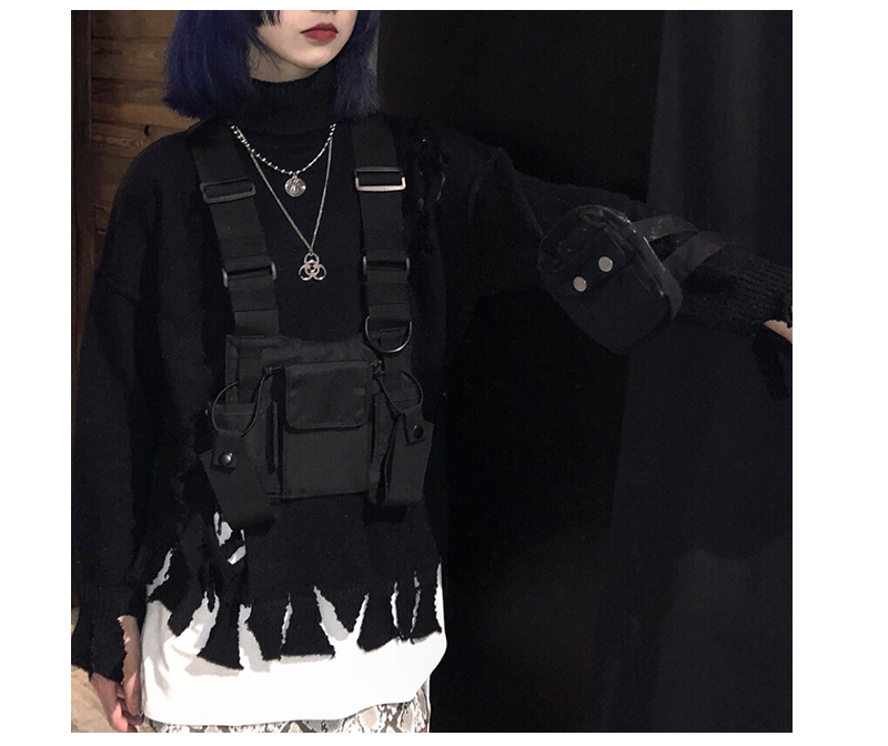 HTB1j6WpJ9zqK1RjSZFpq6ykSXXa6 - adjustable Black Vest Hip Hop Streetwear Functional Tactical Harness Chest Rig Kanye West Waist Pack Chest Bag Fashion Nylon c5