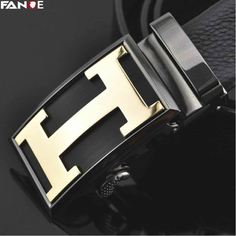 FANGE hommes en cuir ceinture hommes Ceinture En Cuir Véritable mâle Boucle Automatique De Mode Designer Haute Qualité noir De Luxe marque FG9261