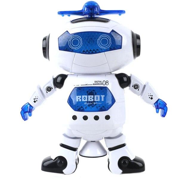 Erstaunliche 360 Rotierenden Smart Raum Tanz Roboter Elektronische Gehen Spielzeug Mit Musik Licht Für Kinder Astronaut Spielzeug Geburtstag Geschenk
