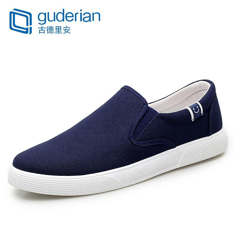 GUDERIAN Men Canvas Shoes 2019 New Spring Summer Sneakers For Breathable Male Flat Loafers Plimsolls Espadrilles