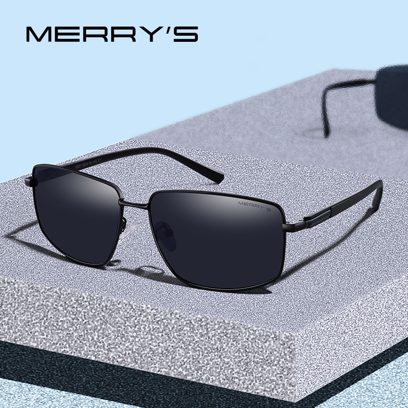 12e3d6dcea9b8 MERRYS DESIGN Men Classic Luxury Brand Sunglasses HD Polarized Sun glasses  For Driving TR90 Legs UV400 Protection S8282
