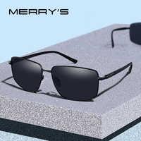 MERRYS DESIGN Men Classic Luxury Brand Sunglasses HD Polarized Sun glasses For Driving TR90 Legs UV400 Protection S8282