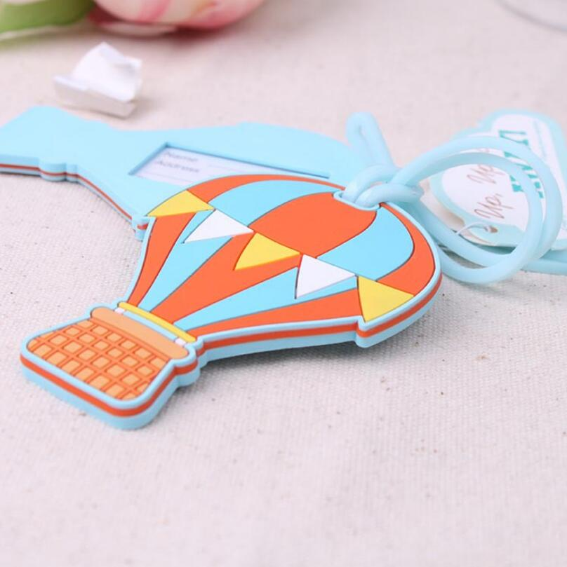 Creative Wedding Bridal Shower Gift Up, Up & Away Hot Air Balloon Luggage Tag For Guest LX1638