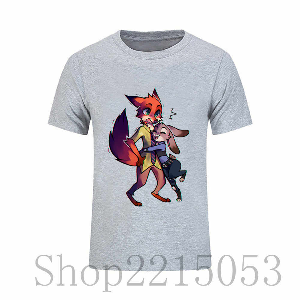 84dda2bc ... Male t shirts Simple Style Men's Tees Cotton Short T-Shirt Big Size  Zootopia by ...