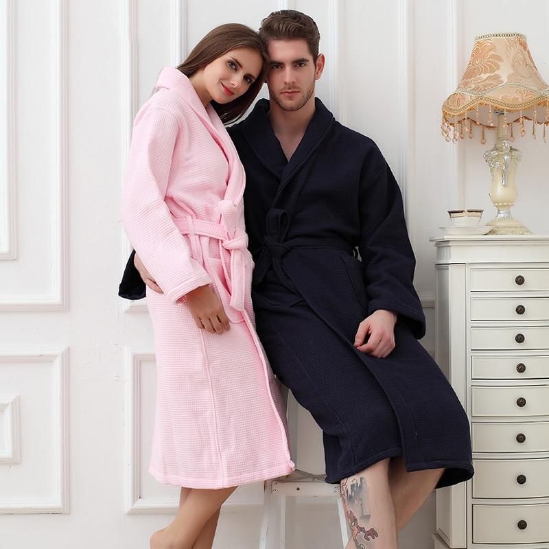 Winter Bathrobe Men Thick Cotton Male Women Bath Robes Gentlemen Homewear Male Sleepwear Lounges Pajamas Bathrobes White Grey