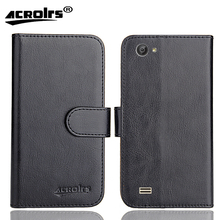 Ergo B506 Intro Case 6 Colors Dedicated Soft Flip Leather Special Crazy Horse Phone Cover Cases Credit Card Wallet