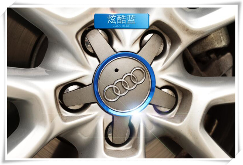 Car Styling Ring Wheel Hub Decoration Circle Stickers For Audi S4 B8 B9 A5 9T A6 C7 C8 A7 4G 5G A8 D4 D5 RS 5 RS6 C6 C7 RS 7(China)