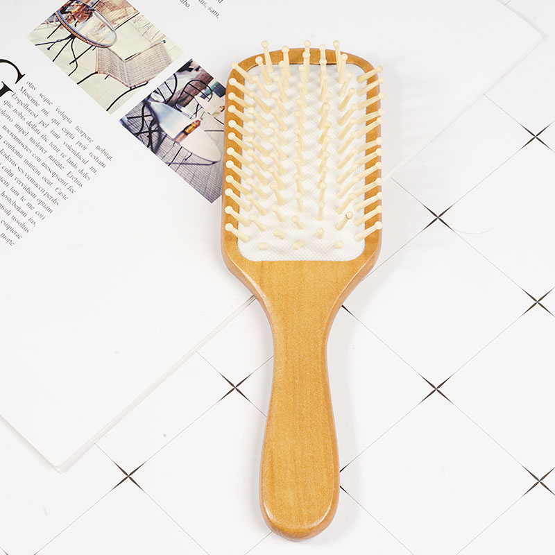Image 5 - 1 Comb Hair Care Brush Massage Wooden Spa Massage Comb 2 Color Antistatic Hair Comb Massage Head Promote Blood Circulation X0585-in Combs from Beauty & Health