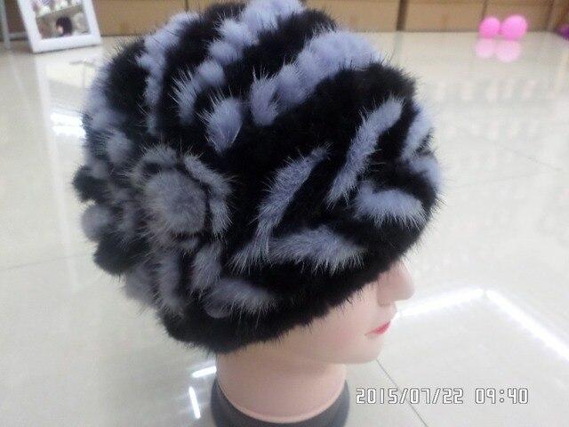 2016 Senior real fur  mink fur  fashion  women hats cap winter warm freeshipping