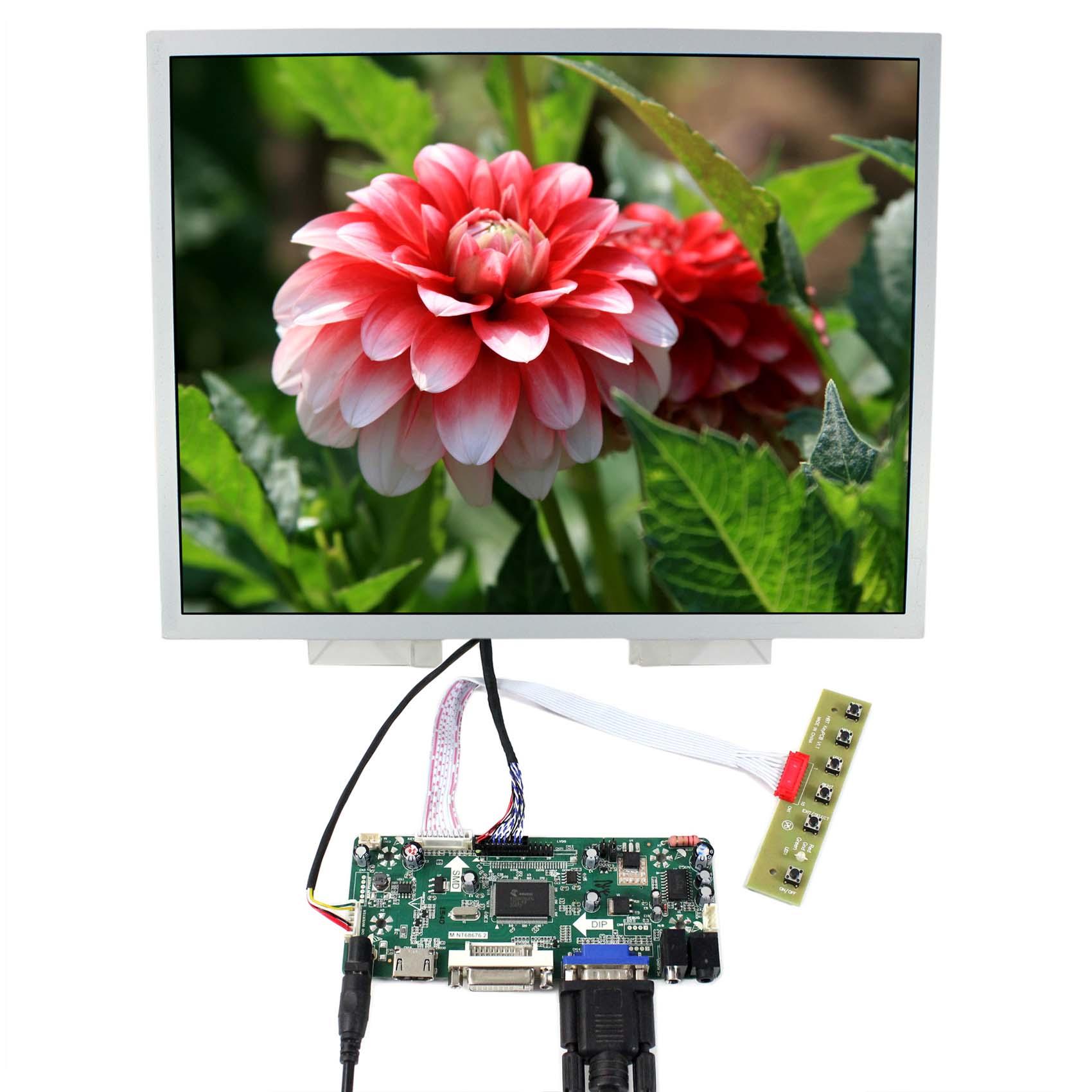 HDMI VGA DVI Audio LCD Controller Board M NT68676 With 15 LQ150X1LG96 1024x768 1050nit industrial LCD