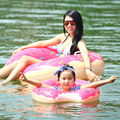 INS Inflatable Raft chocolate Doughnut Swimming swim ring Game Float bathing toys kids child Summer Water giant pool tube