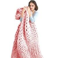 Beroyalブランドソフト太線ジャイアント糸ニット毛布手織の写真撮影の小道具毛布crochetllinenソフト編