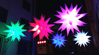 Free shipping diameter 1.5m led inflatable stars christmas decorations for home