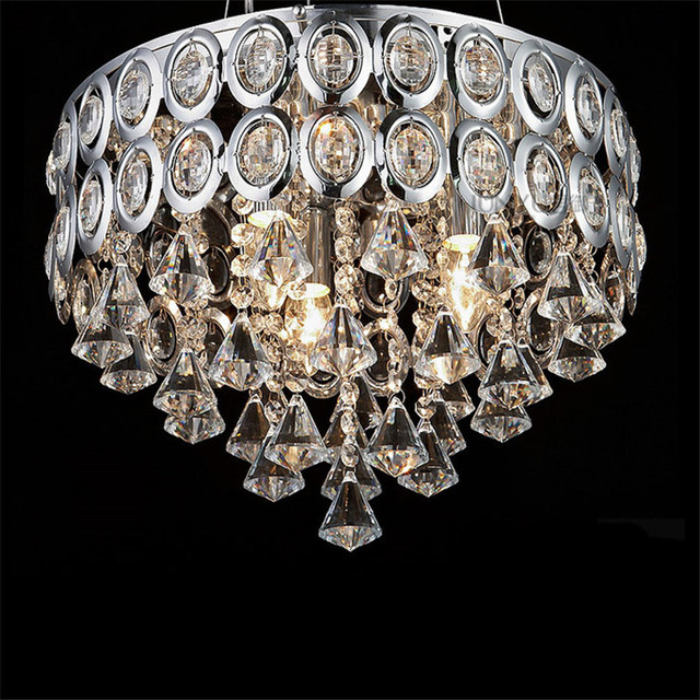 Us 324 99 Crystal Chandelier Modern Home Fitment Lighting Fixtures Led Flush Mount Remote Control Chandeliers Wireless Lamps For Kitchen In