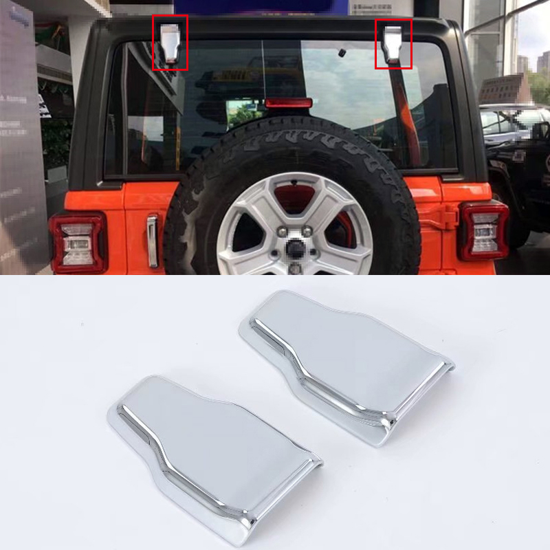 Car Styling Chrome Exterior Hood Rear Car Door Hinge Cover