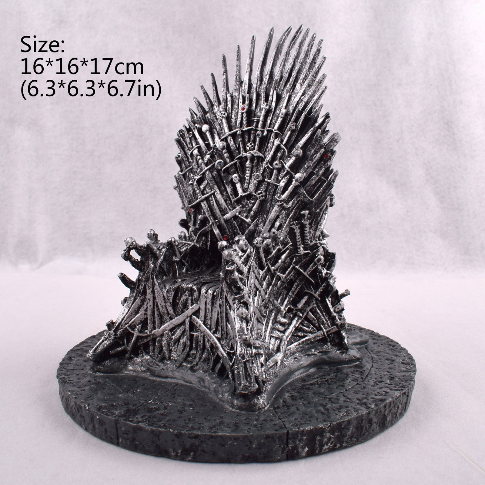 7(17cm) The Iron Throne Game Of Thrones A Song Of Ice And Fire Replica Statue Anime Figure Collectible Model Toy game of thrones a song of ice and fire 1 1 resin shield bar decoration cosplay props action figure collectible model toy w290
