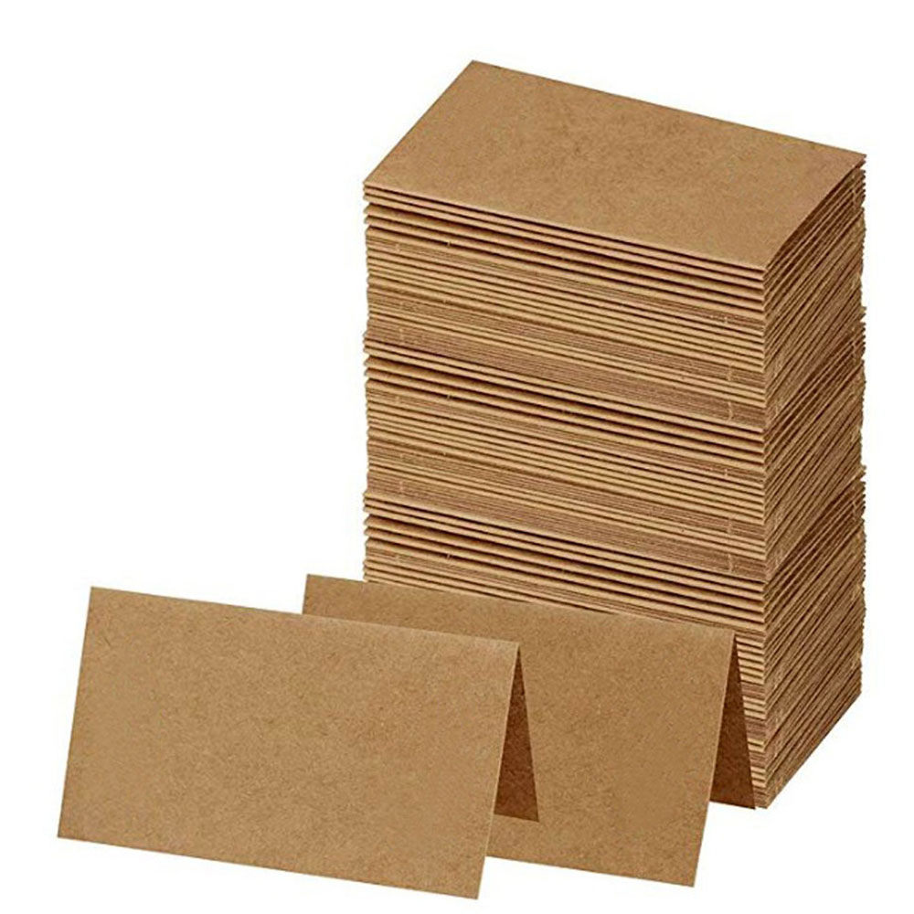 50pcs/lot <font><b>Blank</b></font> Kraft Paper Business <font><b>Cards</b></font> Word <font><b>Card</b></font> Message <font><b>Card</b></font> DIY Gift <font><b>Card</b></font> Wedding <font><b>Invitation</b></font> <font><b>Card</b></font> image