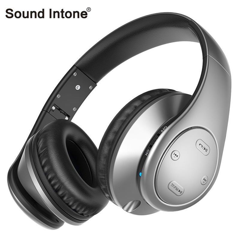 Sound Intone Bluetooth Headset With Microphone Support Micro SD TF FM Radio Wireless Headphones for iphone