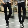 HOT 2017 Fashion Men Straight Teenagers Sweatpants Men's Trousers Black Denim Pants male student Skinny Hip Hop trousers 28-34