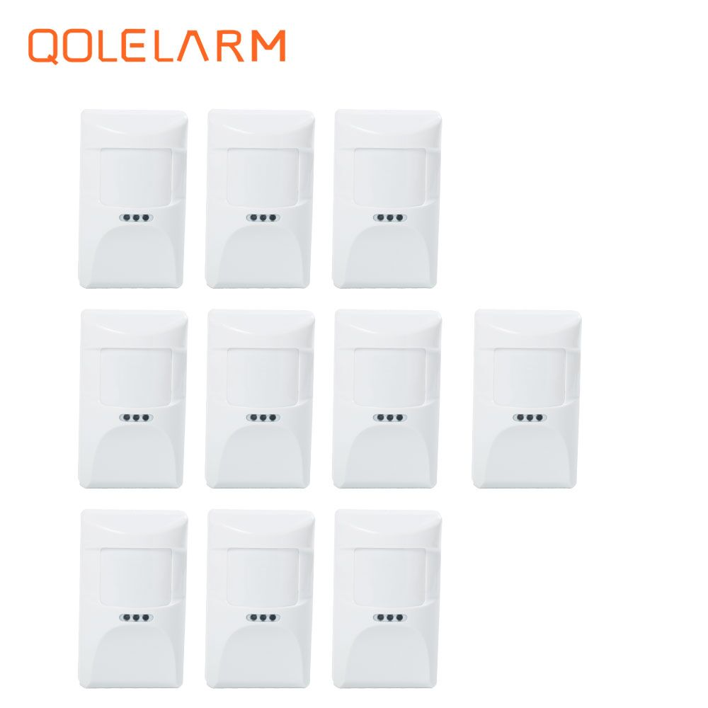 10pcs 433MHz Wireless pet immune infrared  anti-pet PIR sensor motion detector for wi-fi gsm sms alarm system with battery 433mhz alarm accessory wireless pet friendly pir sensor outdoor pet immune infrared motion detector for home wifi gsm alarm g90b
