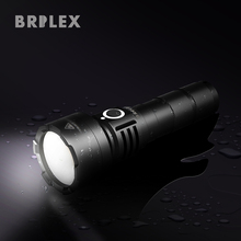 BRILEX LED Flashlight Rechargeable Torch Flashlgith Waterproof Black Color Packed with 2600mAh Rechargeable 18650 Battery