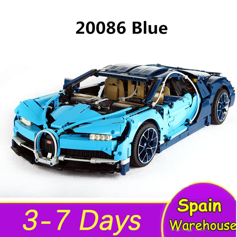 20086 Racer Car Building Blocks Super Sports Racing Car Bugatti Chiron Technic Car 42083 42056 Toys