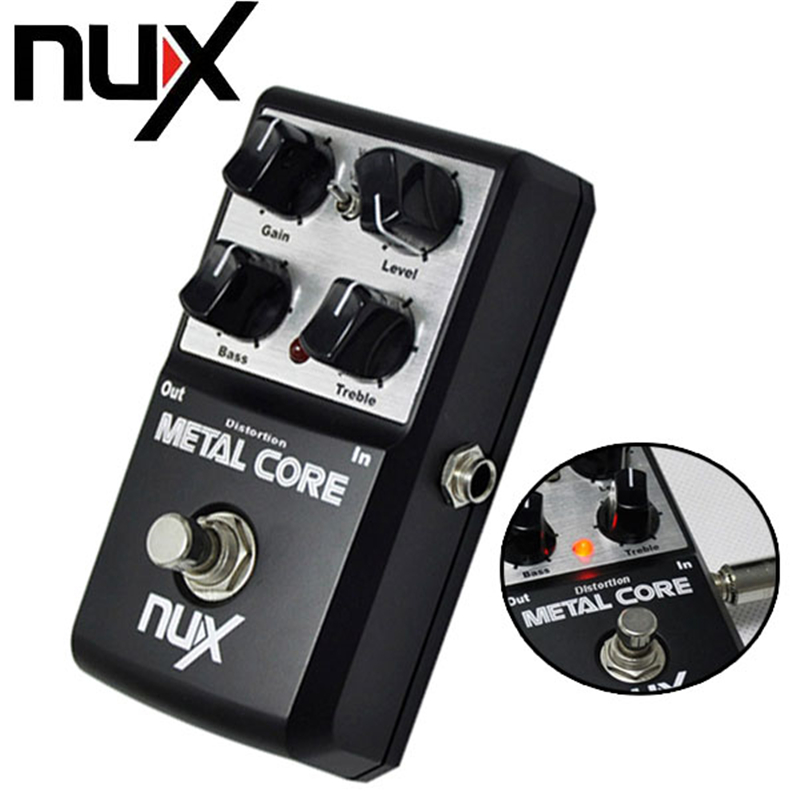 NUX Metal Core Distortion Guitar Pedal True Bypass Guitar Effects Pedal Built-in Noise Gate 2-Band EQ Tone Lock Function mooer ensemble queen bass chorus effect pedal mini guitar effects true bypass with free connector and footswitch topper