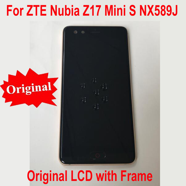 Năm 100% Ban Đầu Làm Việc Kính MÀN HÌNH Hiển Thị LCD Bộ Số Hóa Cảm Ứng Cảm Biến có khung Cho ZTE Nubia z17mini S NX589J NX589H