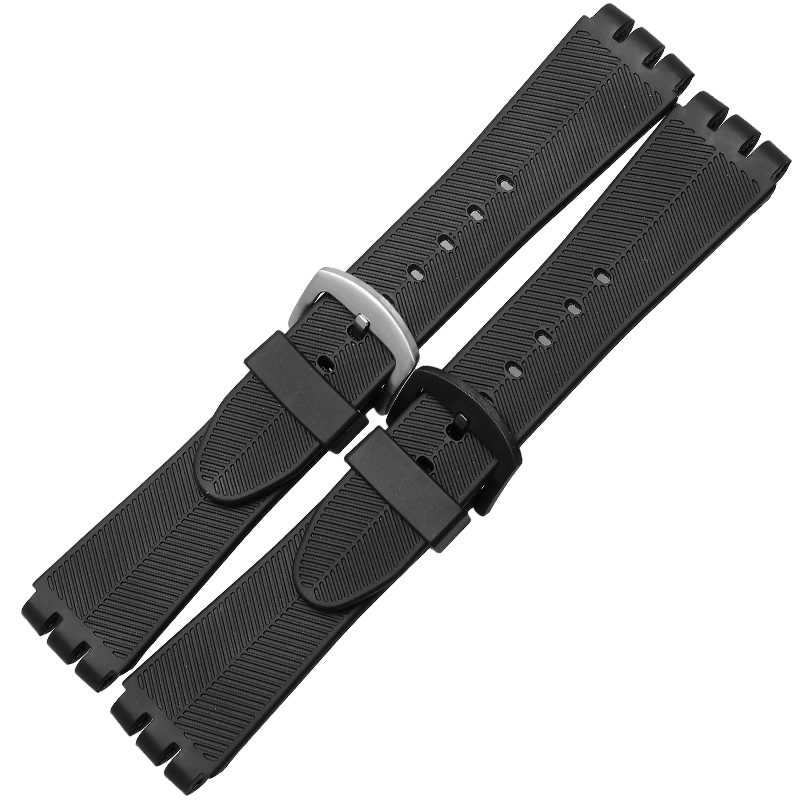 New! Watch accessories waterproof silicone rubber strap the for Swatch watch strap YOB100 23mm black все цены