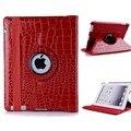 Крокодил кожа PU case for iPad 4 iPad 3 iPad 2 с 360 Градусов Вращающийся Стенд Оптовая