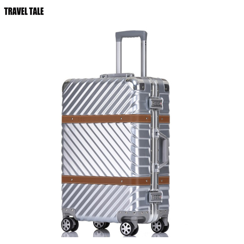 TRAVEL TALE 20 24 26 29 Aluminium frame trolley spinner travel bag suitcase hand luggage with