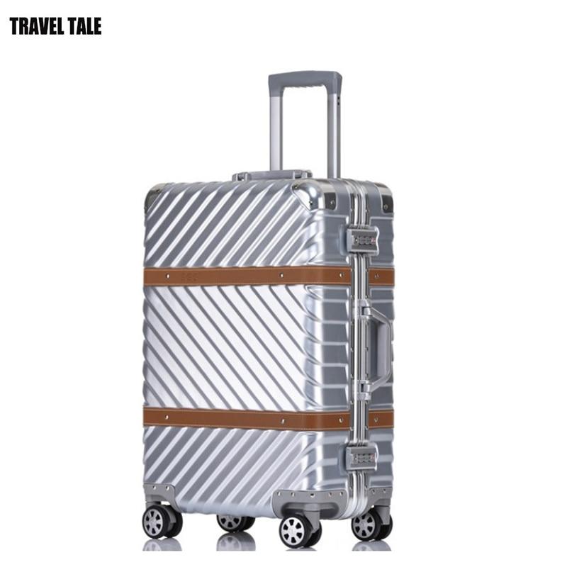 """Conte de voyage 20 """"24"""" 26 """"29 chariot à cadre en Aluminium spinner sac de voyage valise bagage à main avec roues-in Bagages à roulettes from Baggages et sacs    1"""