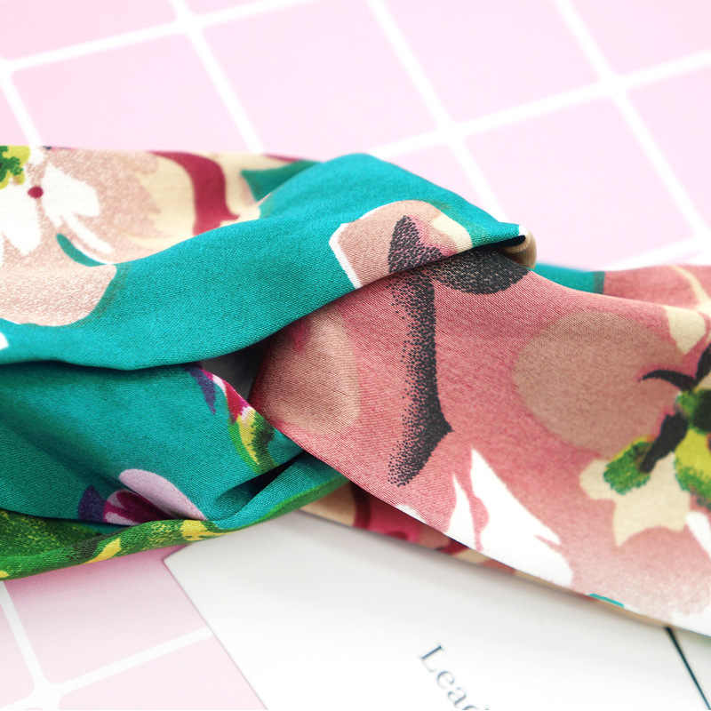 女性ヘアバンド夏ボヘミアン印刷レトロクロスターバン包帯バンダナ Headwrap ヘアバンドヘアアクセサリー