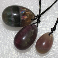 stone Kegel Ball Fluorite Egg of Jade Drilled Yoni Eggs Carving Ben Wa Balls for Women Kegel Exercise Body Massage Health Care
