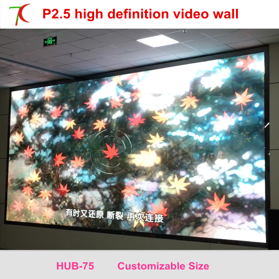 Cost-effective Indoor P2.5 Full Color Led Screen Widely Use For Led Video Wall In Meeting Room,multi-media Classroom,160.000dots