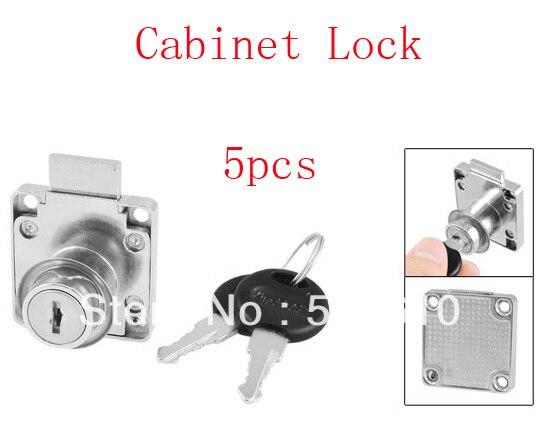 Metal Square Base Cylinder Drawer Locking Cabinet Lock Lockset W 2