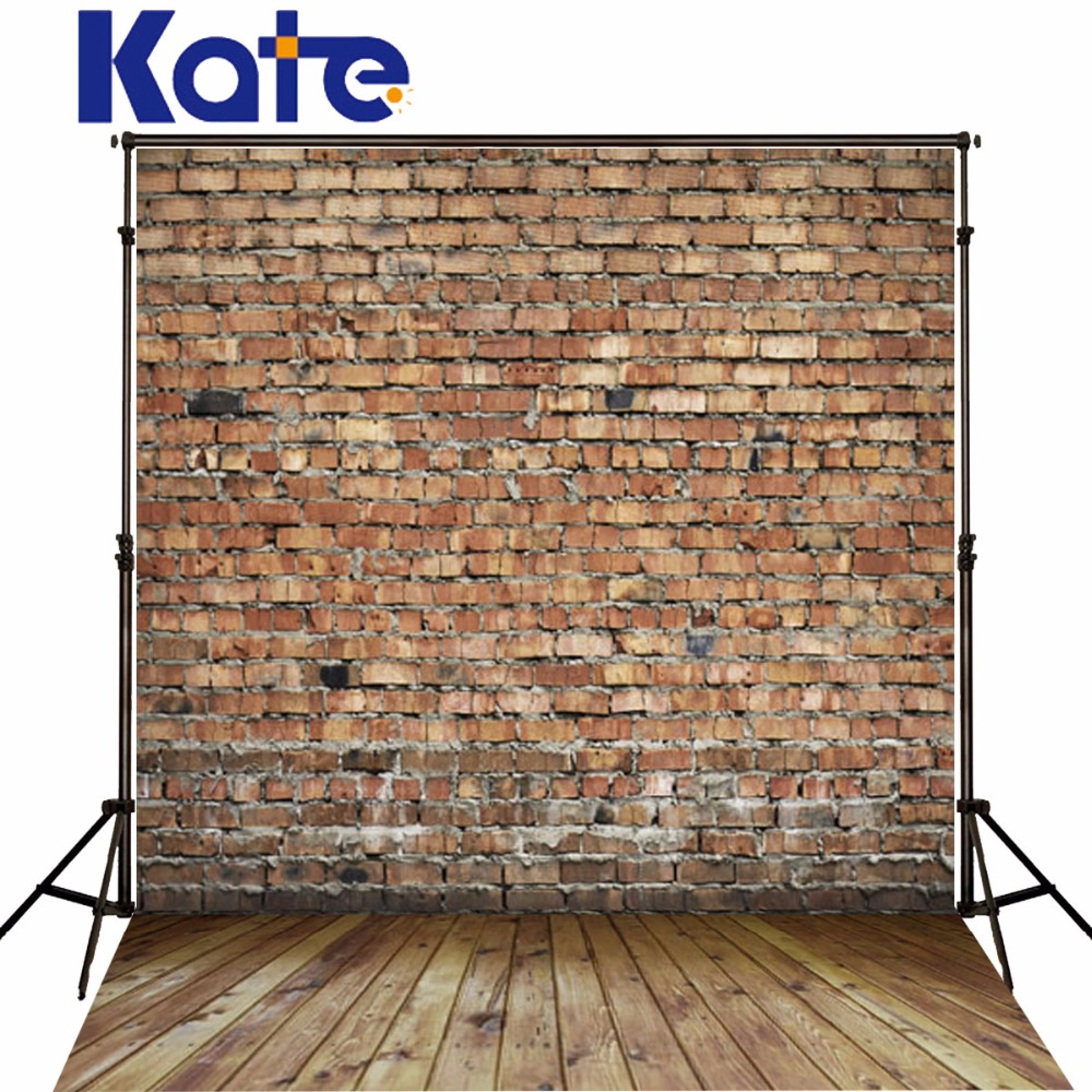 Kate Red Brick Wall Photography Studio Props Wood Floor Background For Studio Backdrops For Photography 3x5ft vinyl photography background for studio photo props brick wall floor photographic backdrops 90x150cm
