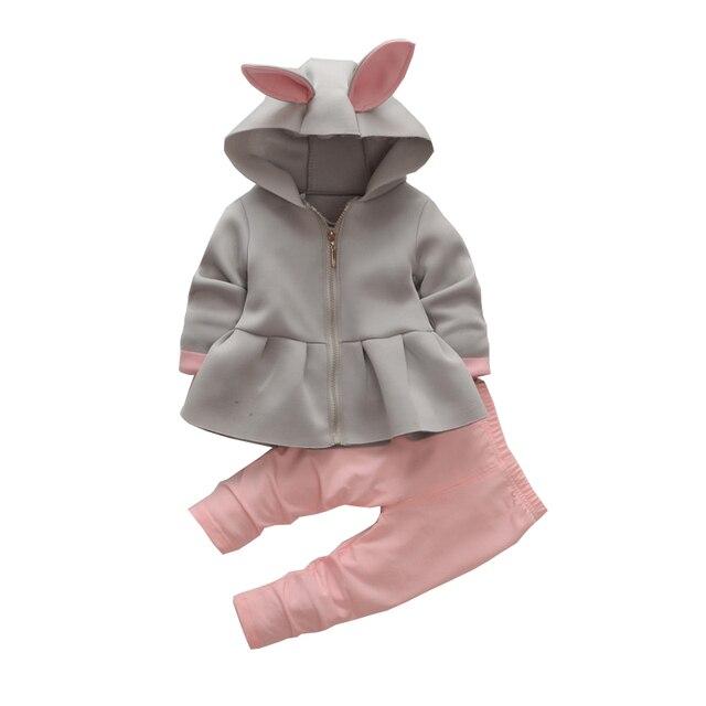 d0b6ee990 BibiCola Autumn Spring Baby Girls Clothing Sets Infant hoodies Suit ...