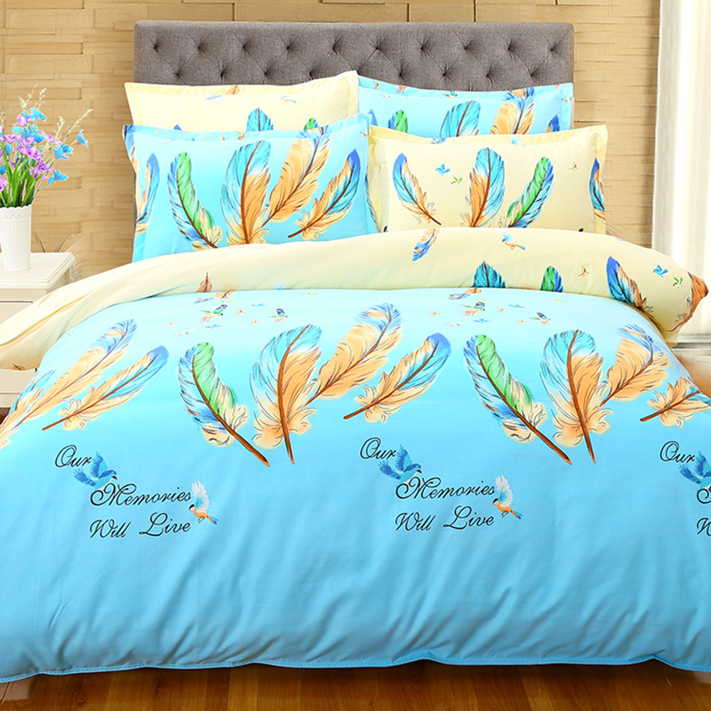 Power Source Glorious Feather Winter Warm 4 Pcs Bedding Set Child Kids 1.8m 2.0m 2.3m Bed Sheet Linen King Queen Double Twin Size Duvet Cover Bedlinen Limpid In Sight