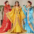De lujo de 5 Colores Vestido de Princesa Ropa de Hadas juego de La Espiga Hanfu Traje Chino Antiguo Traje Vestido de Traje Tradicional