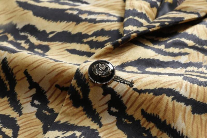 VAGUELETTE, итальянский стиль, модная куртка, блейзер для мужчин, Роскошный рисунок, сценический блейзер для мужчин, Венецианский узор, блейзеры ... - 5
