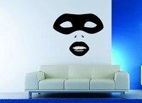 Wall Decor Vinyl Sticker Decal Mask Face Venetian Lips Girl Sexy