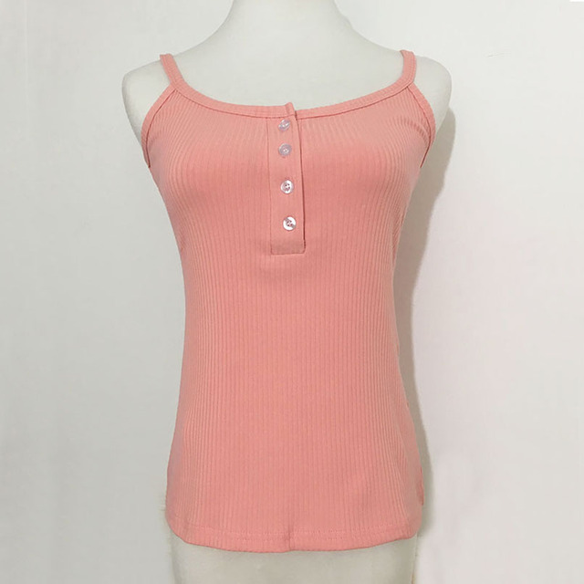 """""""4 BUTTON"""" cropped top"""