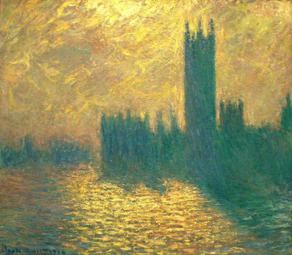 High quality Oil painting Canvas Reproductions Houses of Parliament (1904) By Claude Monet hand paintedHigh quality Oil painting Canvas Reproductions Houses of Parliament (1904) By Claude Monet hand painted