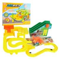 1 Pcs Mini Pista de Corrida Brinquedo Do Carro Montagem Música & Light Crianças Puzzle Brinquedo Trem Elétrico Pista De Corrida de Carros para Crianças