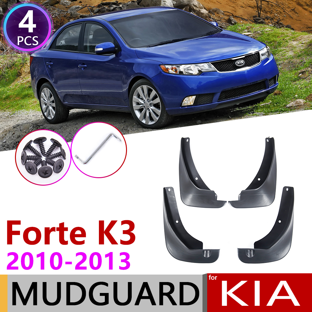For Kia Forte Cerato K3 TD 2010 2011 2012 2013 4 PCS Front Rear Car Fender Mud Flaps Guard Splash Flap Mudguards Accessories