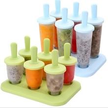 6 морозильник льда поп-мейкер плесень эскимо Десерт Мороженое Замороженные Pops торт лечит кухонные инструменты