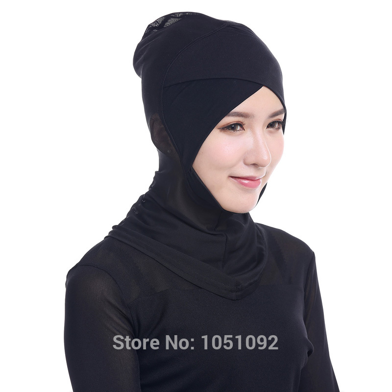 20pcs Muslim Inner Scarf Cap Women Islamic Hat Hijab Modal & Net Stretch Elastic Adjustable Hot Sale 45cm*32cm Pick 12 Colors