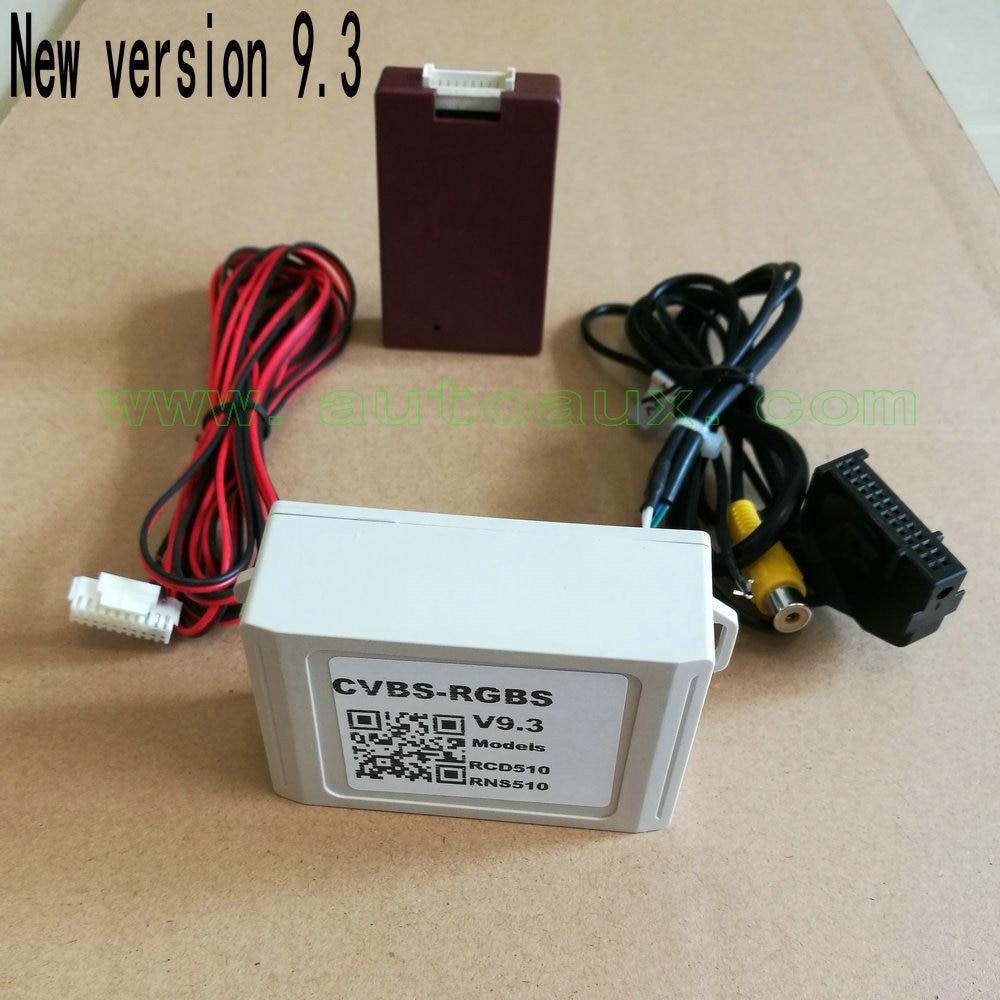 imágenes para Longate RNS510 adaptador de Cámara de entrada RGB para CVBS AV Adaptador de Visión trasera VCR RCA Convertidor Decodificador fit VW RCD510 Skoda