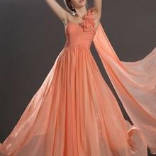 Orange 2019 Cheap Bridesmaid Dresses Under 50 A-line One-sho